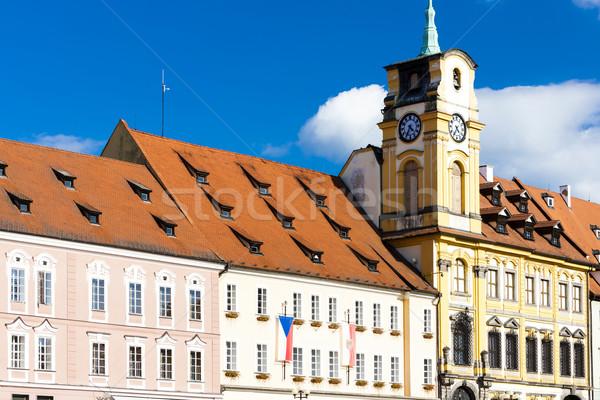 Prefeitura República Checa edifício arquitetura europa torre Foto stock © phbcz