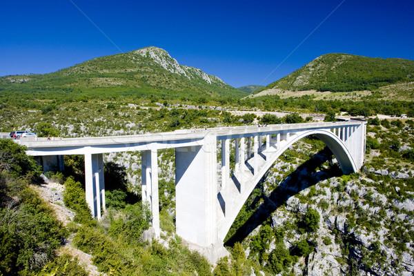 Pont de l'Artuby, Verdon Gorge, Provence, France Stock photo © phbcz