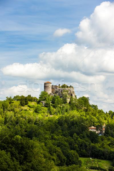 Castelo departamento França viajar arquitetura europa Foto stock © phbcz