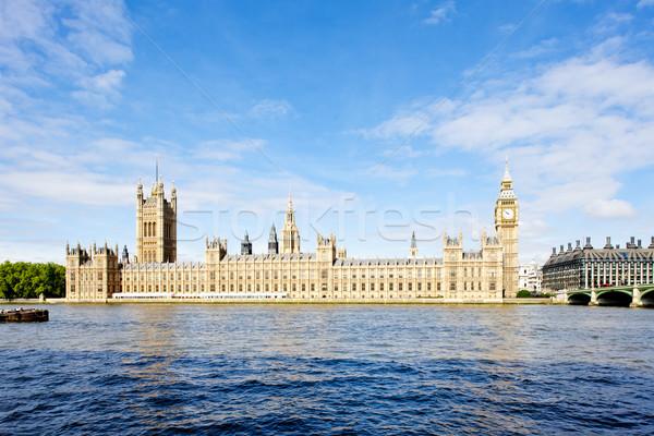 Huizen parlement Londen groot-brittannië stad rivier Stockfoto © phbcz