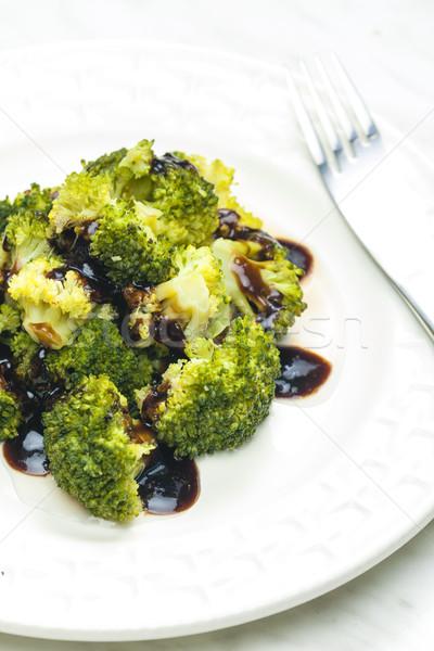 broccoli with balsamico sauce Stock photo © phbcz