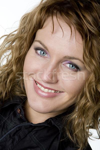 портрет женщину только женщины улыбаясь портретов Сток-фото © phbcz
