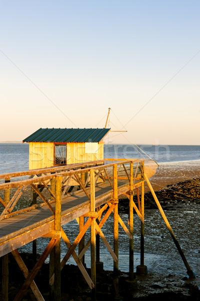Pier pescaria casa departamento França Foto stock © phbcz