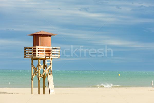 Ratownik kabiny plaży morza podróży straży Zdjęcia stock © phbcz