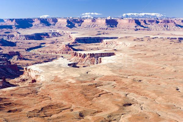Zöld folyó park Utah USA tájkép Stock fotó © phbcz