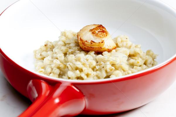 święty perła jęczmień risotto posiłek Zdjęcia stock © phbcz