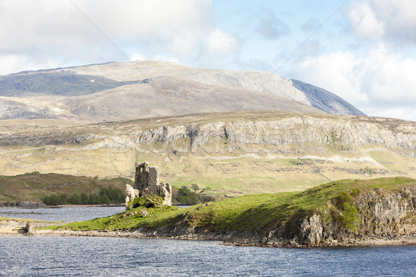ruins of Ardvreck Castle at Loch Assynt, Highlands, Scotland Stock photo © phbcz
