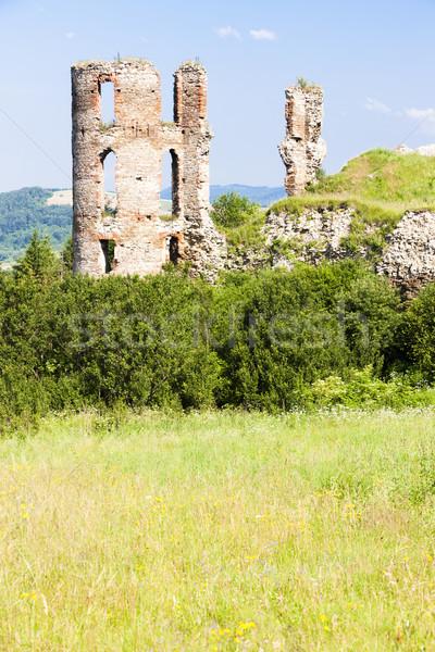 Ruinas castillo Eslovaquia edificio arquitectura Europa Foto stock © phbcz