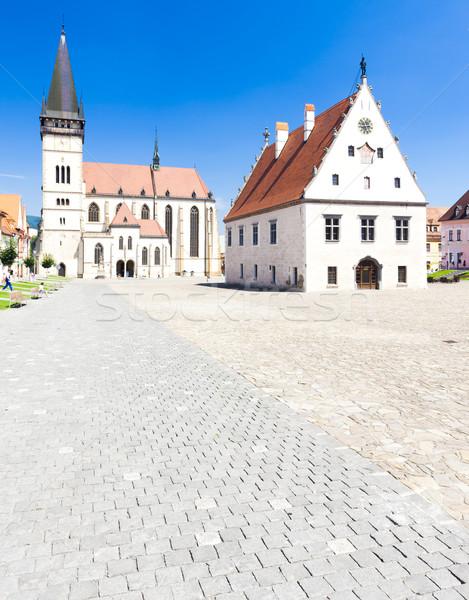 Stock photo: Town Hall Square, Bardejov, Slovakia