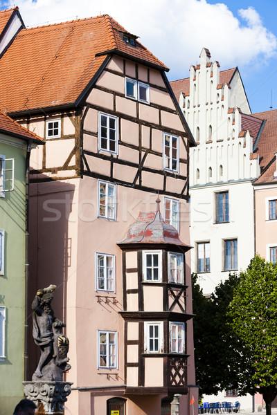 Complejo medieval casas República Checa edificio arquitectura Foto stock © phbcz