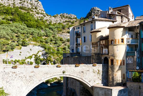 Entrevaux, Provence, France Stock photo © phbcz