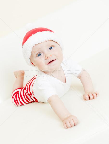 ストックフォト: 肖像 · サンタクロース · 少女 · 赤ちゃん · 子