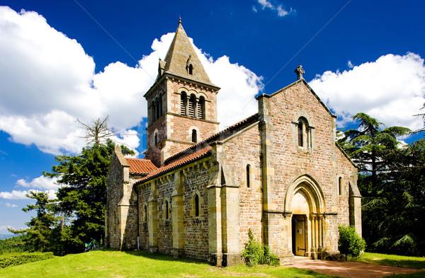 Montagne de Dun Church, Le Brionnais region, Burgundy, France Stock photo © phbcz