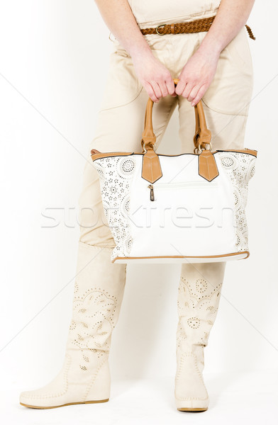 詳細 立って 女性 着用 夏 ブーツ ストックフォト © phbcz