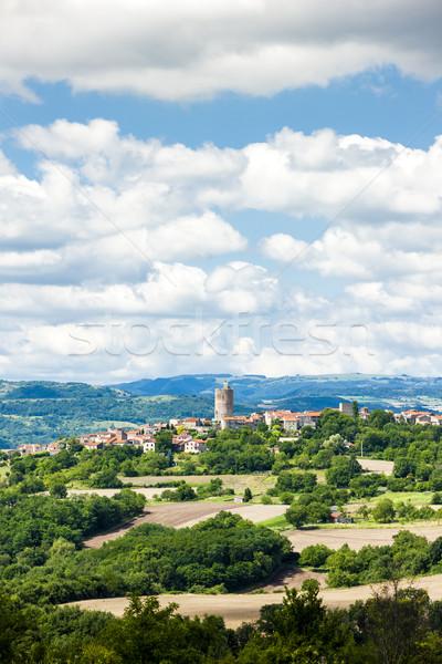 Afdeling Frankrijk landschap kasteel ruines dorp Stockfoto © phbcz
