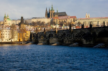 Prague Castle with Charles Bridge, Prague, Czech Republic Stock photo © phbcz