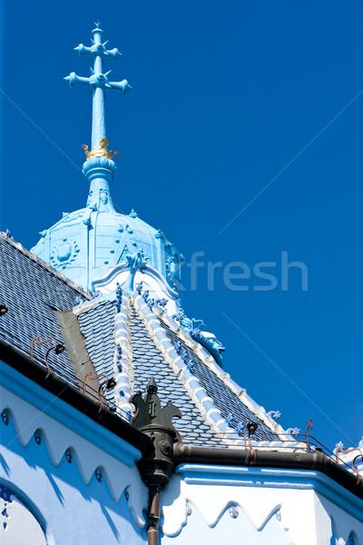 detail of Church of Saint Elizabeth Hungarian called Blue Church Stock photo © phbcz