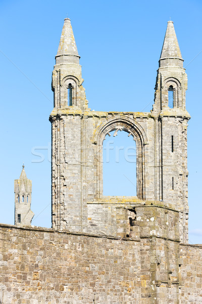ruins of St. Rule's church and cathedral, St Andrews, Fife, Scot Stock photo © phbcz