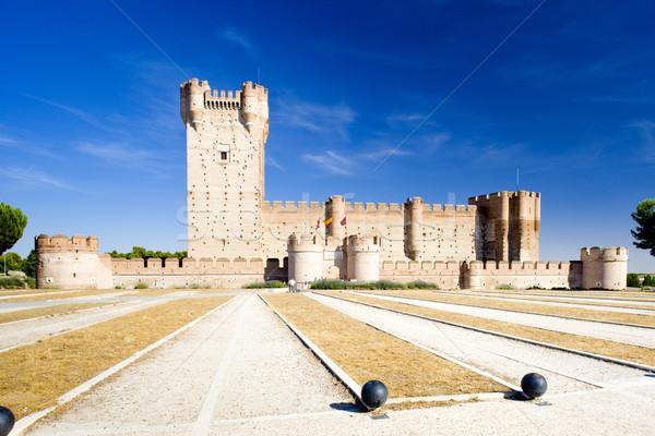 La Mota Castle, Medina del Campo, Valladolid Province, Castile a Stock photo © phbcz