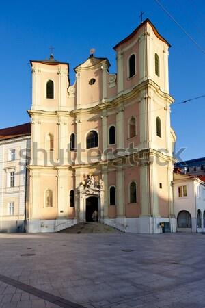 Iglesia Bratislava Eslovaquia edificio arquitectura historia Foto stock © phbcz