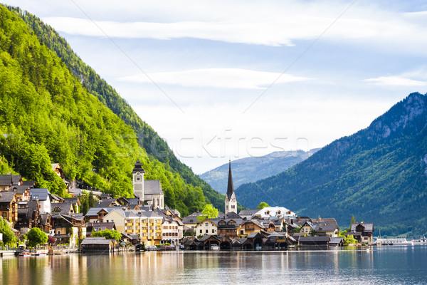 Áustria água edifício igreja viajar montanhas Foto stock © phbcz