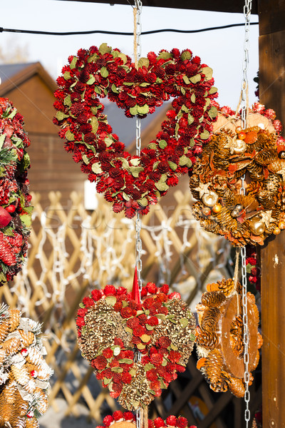 Natal mercado Viena Áustria amor apresentar Foto stock © phbcz