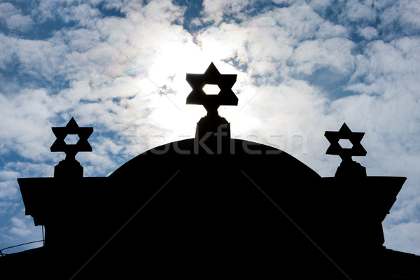 Photo stock: Synagogue · République · tchèque · église · silhouette · architecture · Europe