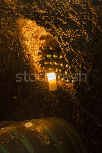 Cantina vino regione Slovacchia bere candela Foto d'archivio © phbcz