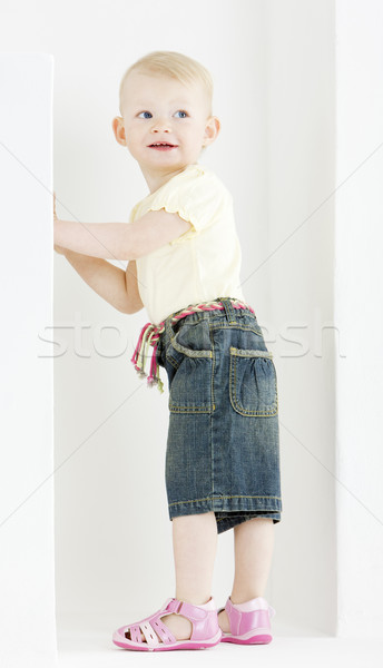standing toddler Stock photo © phbcz