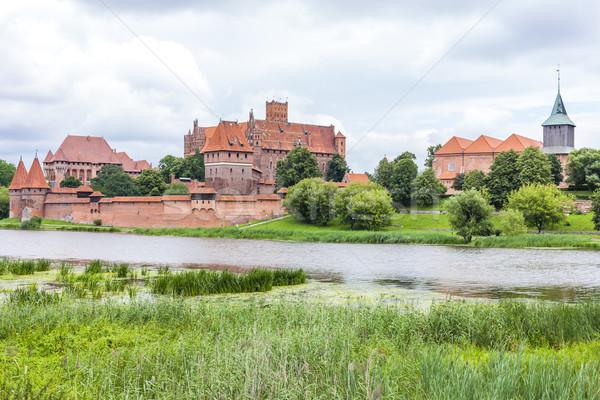 Polonia costruzione viaggio castello fiume gothic Foto d'archivio © phbcz