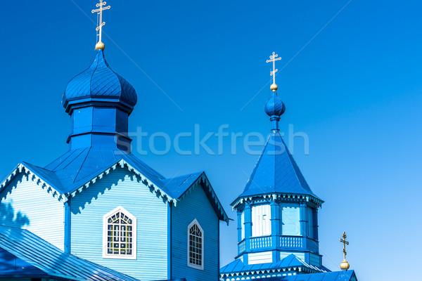 Ahşap ortodoks kilise Polonya seyahat mimari Stok fotoğraf © phbcz