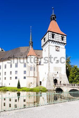 Zarándoklat templom alsó Ausztria épület utazás Stock fotó © phbcz