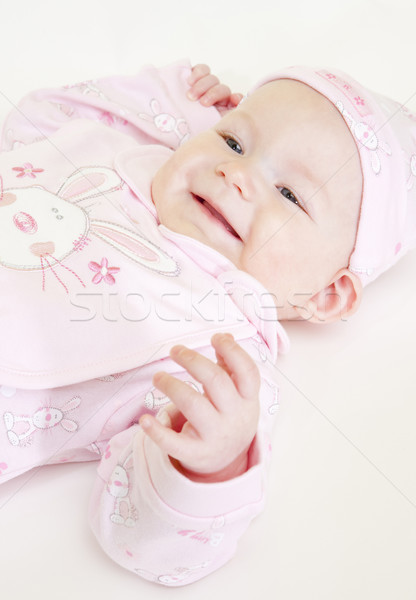 portrait of lying down baby girl Stock photo © phbcz