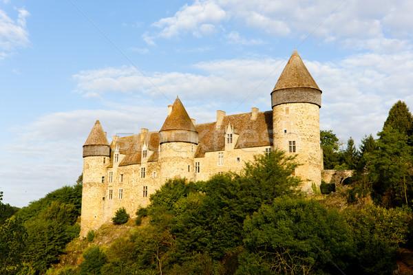 Сток-фото: замок · центр · Франция · путешествия · архитектура · история