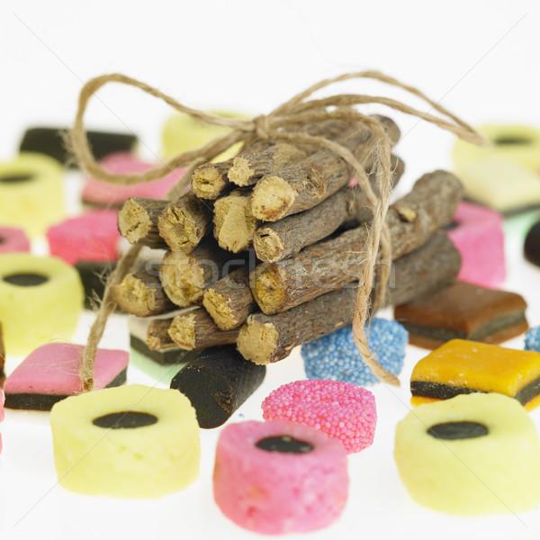 Liquirizia radice mangiare dolce radici Spice Foto d'archivio © phbcz