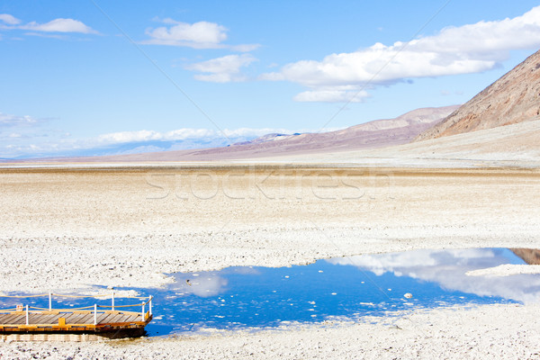 Badwater (the lowest point in North America), Death Valley Natio Stock photo © phbcz
