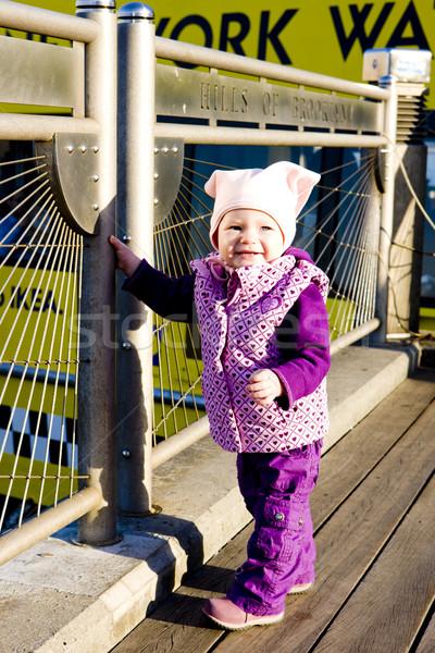 small girl on walk, New York City, USA Stock photo © phbcz