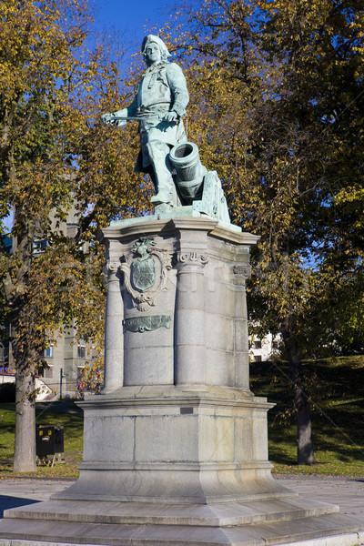像 オスロ ノルウェー 彫刻 兵士 屋外 ストックフォト © phbcz