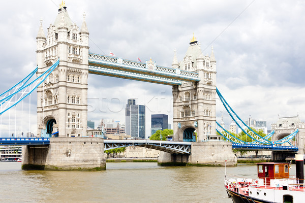 Tower Bridge Londres grande-bretagne bâtiment ville Voyage Photo stock © phbcz