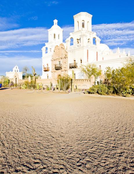 Küldetés Arizona USA templom építészet vallás Stock fotó © phbcz