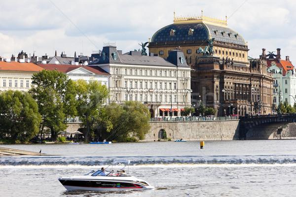 Stok fotoğraf: Tiyatro · Prag · Çek · Cumhuriyeti · Bina · şehir · tekne