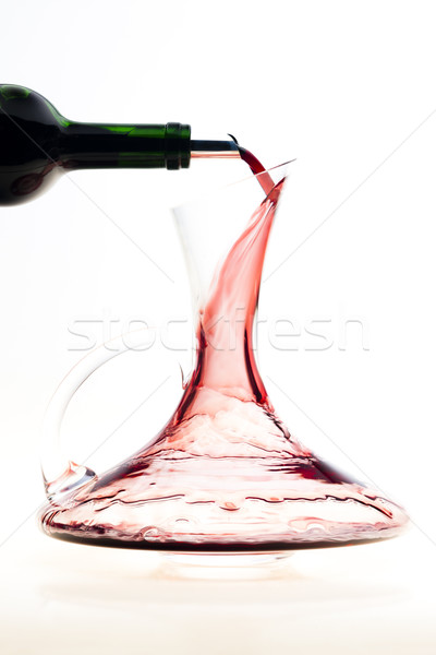 carafe with red wine Stock photo © phbcz