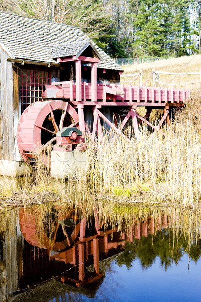 Malom Vermont USA víz épület utazás Stock fotó © phbcz