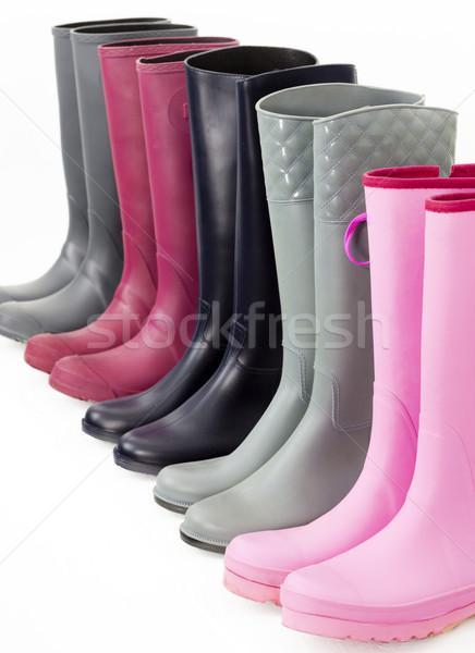 still life of rubber boots Stock photo © phbcz