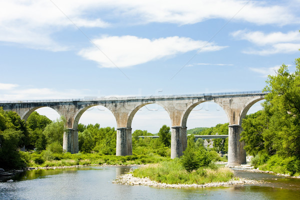 viaduct, Vogue, Rhone-Alpes, France Stock photo © phbcz