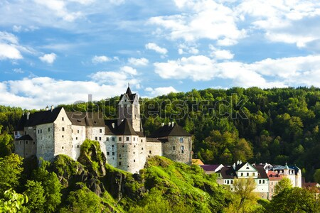 Loket Castle with town, Czech Republic Stock photo © phbcz