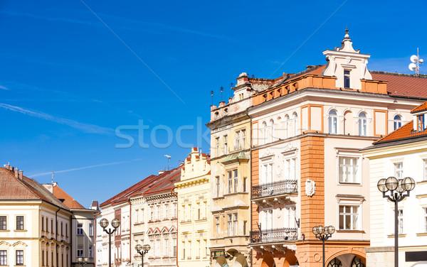 広場 チェコ共和国 家 アーキテクチャ 町 ストックフォト © phbcz
