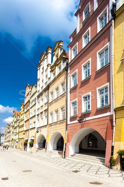Placu Polska budynku architektury Europie miasta Zdjęcia stock © phbcz