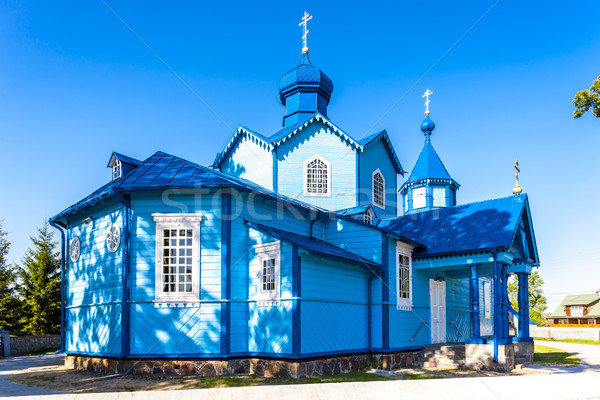 Legno ortodossa chiesa Polonia costruzione viaggio Foto d'archivio © phbcz