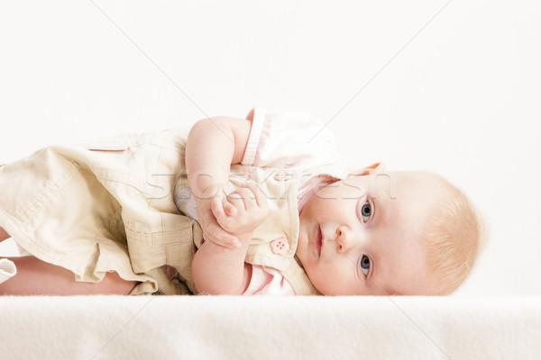 Retrato cuatro meses edad nina Foto stock © phbcz